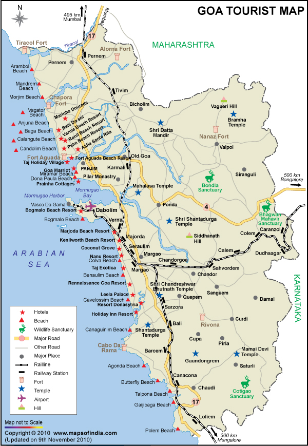 Goa Travel Map