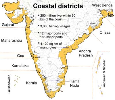 Indian coastal erosion