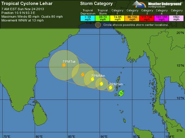 Tropical Cyclone Lehar