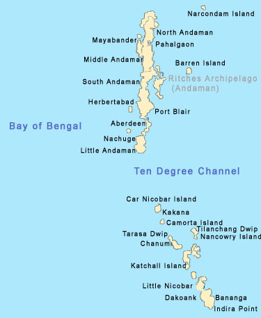 andaman coastal map