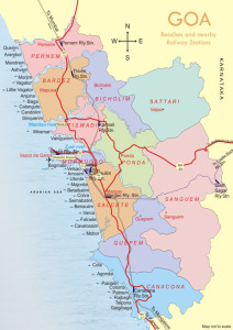 north goa map